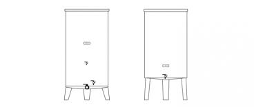 zbiorniki ekonomiczne - rysunek techniczny